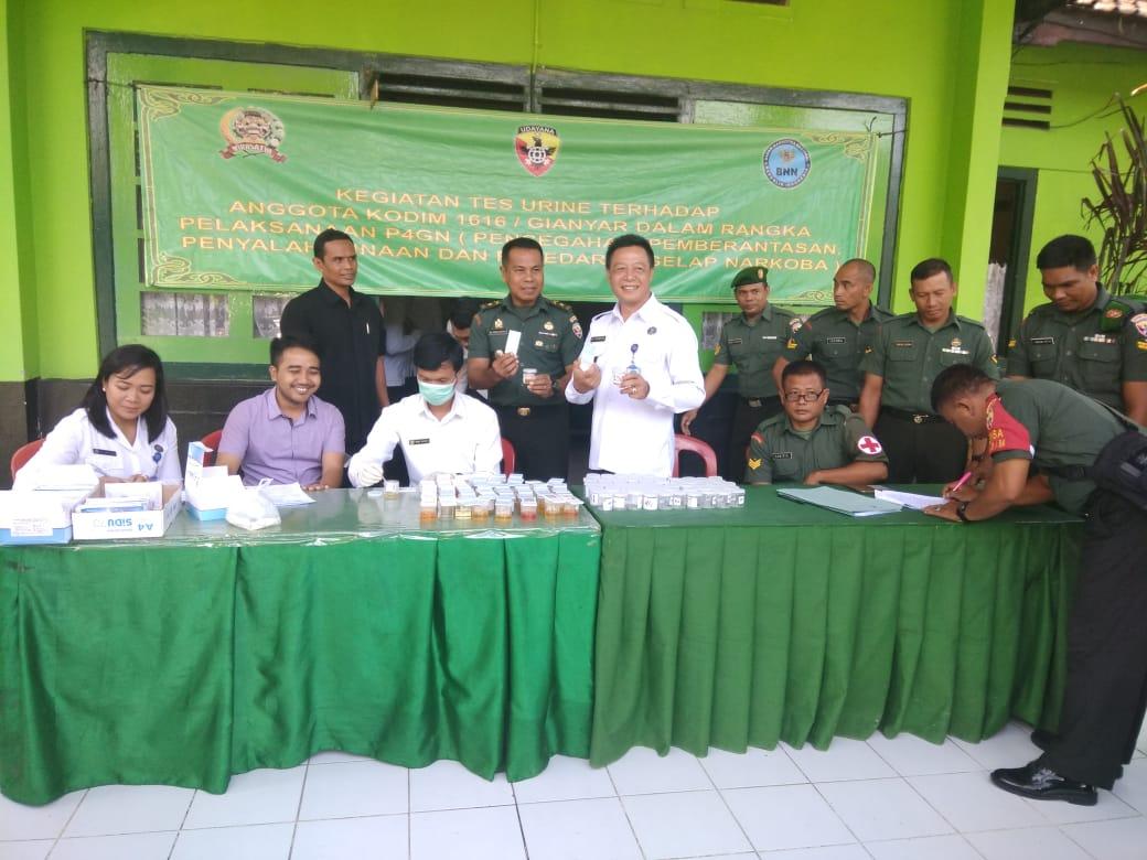 Photo of Kodim Gianyar Gelar Tes Urine, Dukung Program Pemerintah Perangi Narkoba