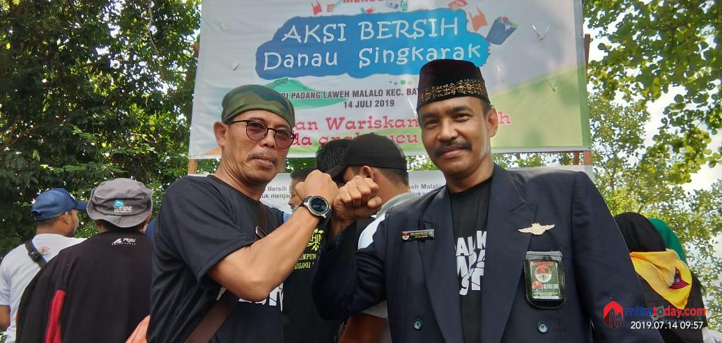 "Photo of AMPHIBI Bersama KLHK ""Aksi Bersih Danau Singkarak"""