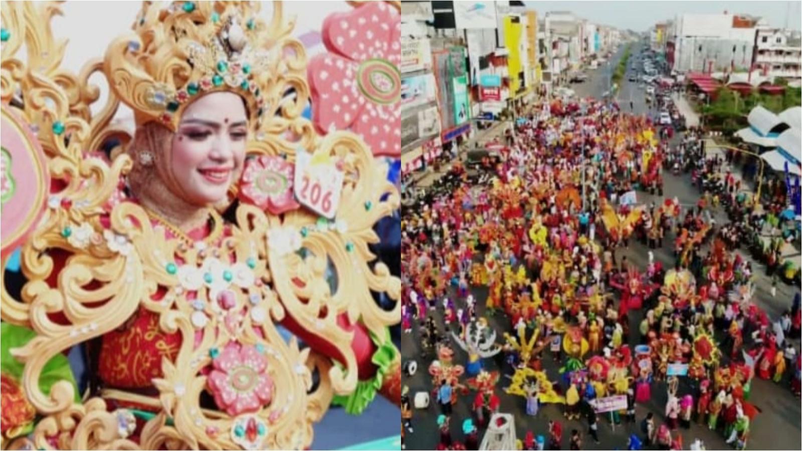 Photo of Karnaval Batik Besurek Diikuti Ribuan Peserta Kenakan Pakaian Bermotif