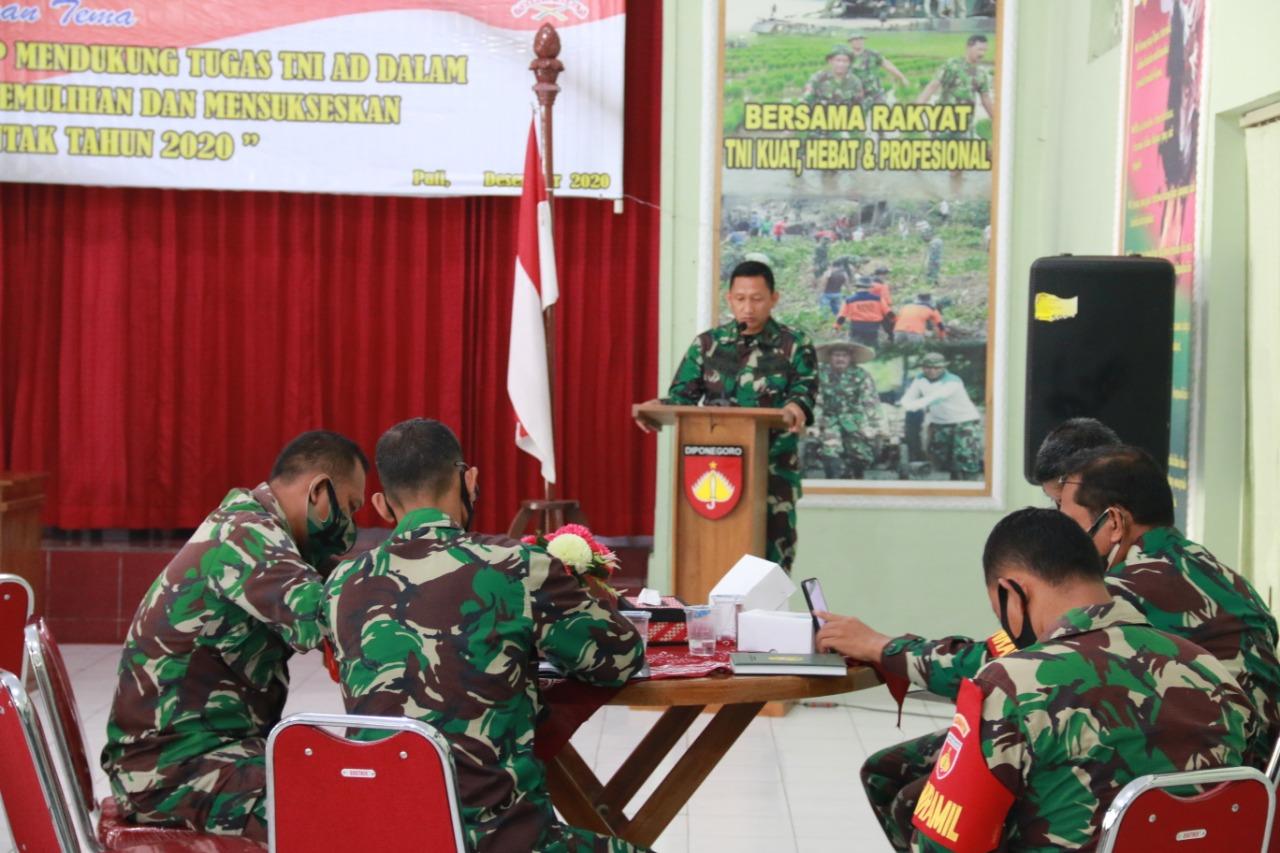 Photo of Gelar Apel Danramil dan Babinsa, Dandim Pati : Bekal Tugas Dalam Pengabdian Tanpa Batas