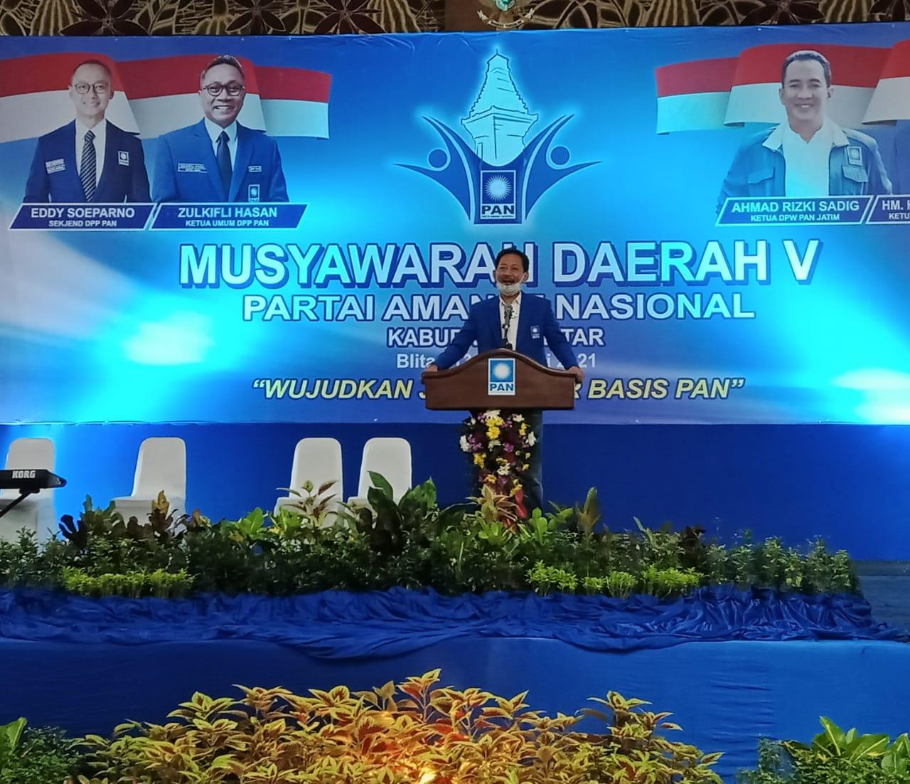 Heri Romadhon, mantan Ketua DPD PAN Kab Blitar, saat ini Bendahara DPW Jawa Timur