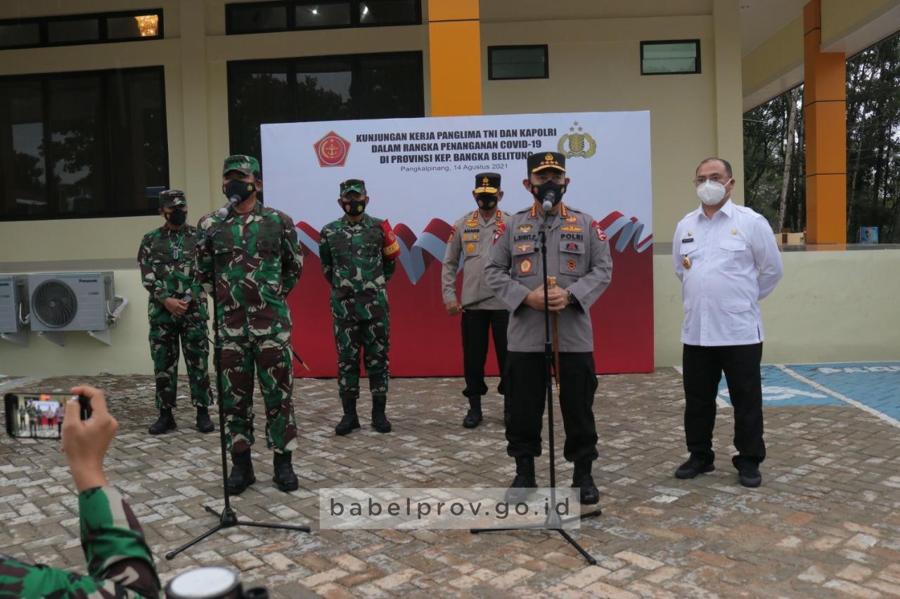 Photo of Panglima TNI dan Kapolri Tinjau Langsung Kondisi Perkembangan Kasus Covid-19 di Babel