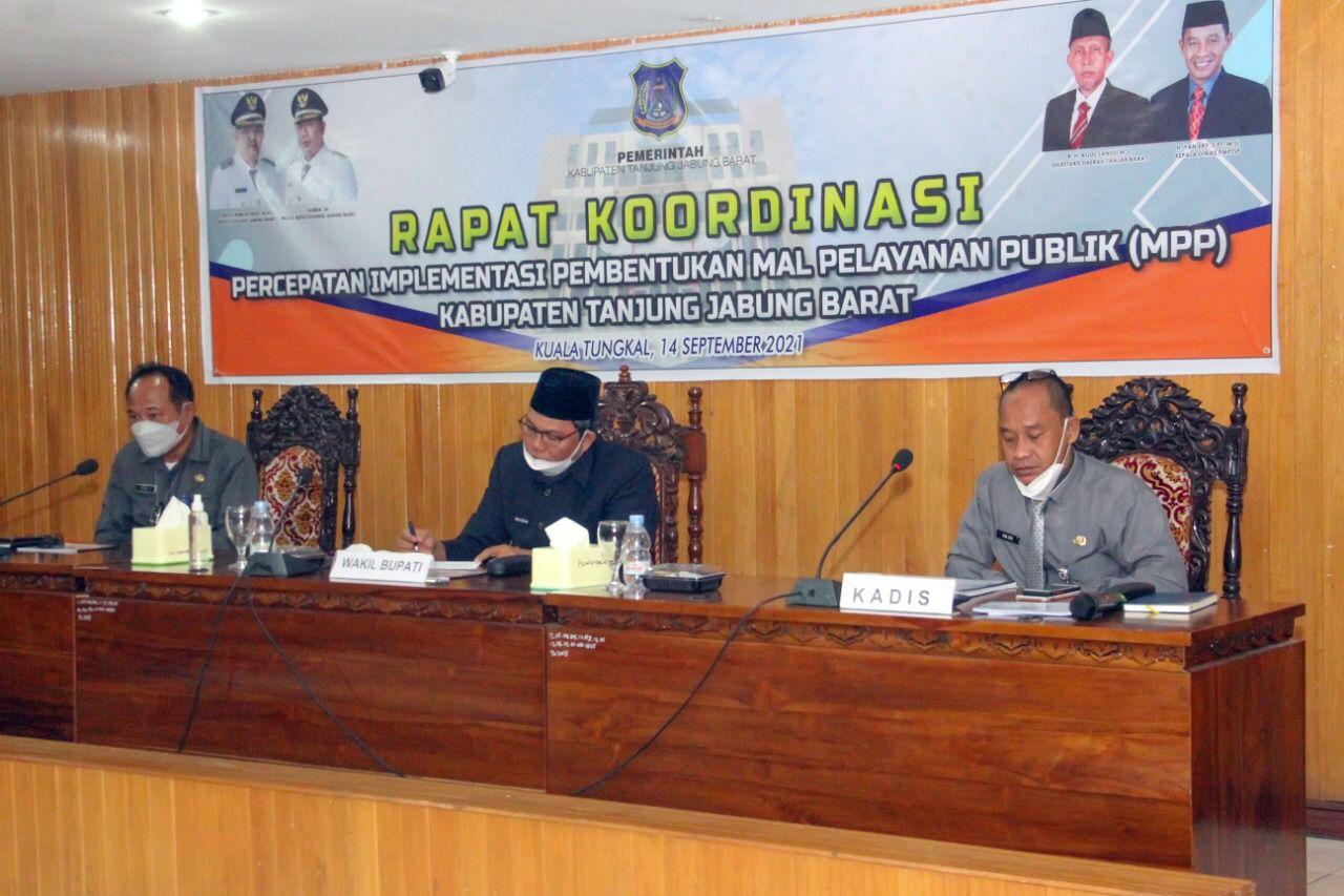 Photo of Wabub Tanjabbar Pimpin Rakor Percepatan Implementasi Pembentukan Mal Pelayanan Publik