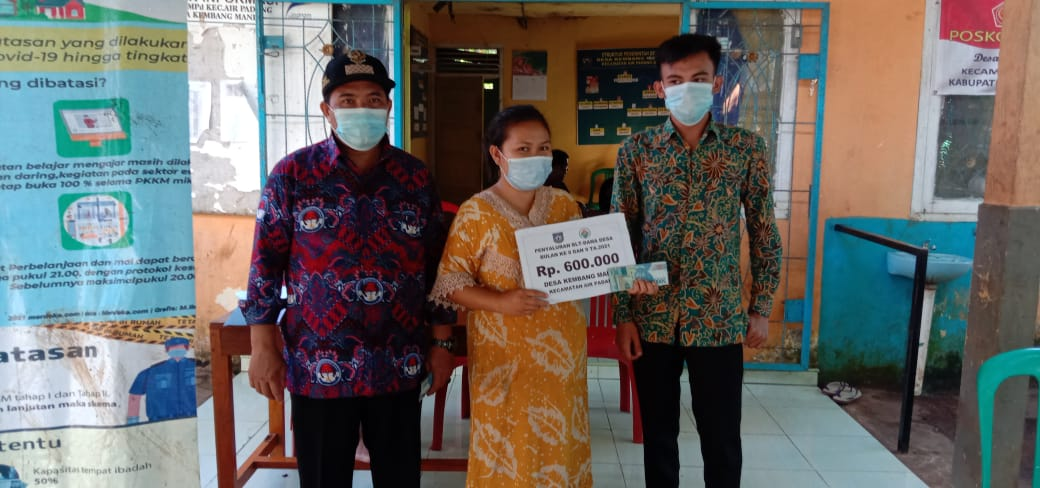 Photo of Penyaluran BLT DD Tahun 2021 Desa Kembang Manis Hampir Rampung