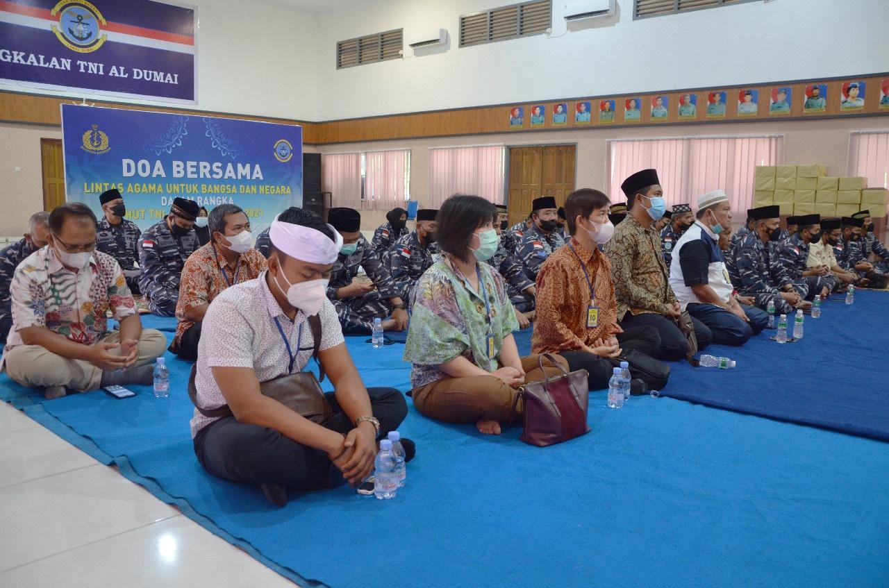 Photo of Dalam Rangka HUT TNI AL Ke-76, Lanal Dumai Gelar Doa Bersama Lintas Agama