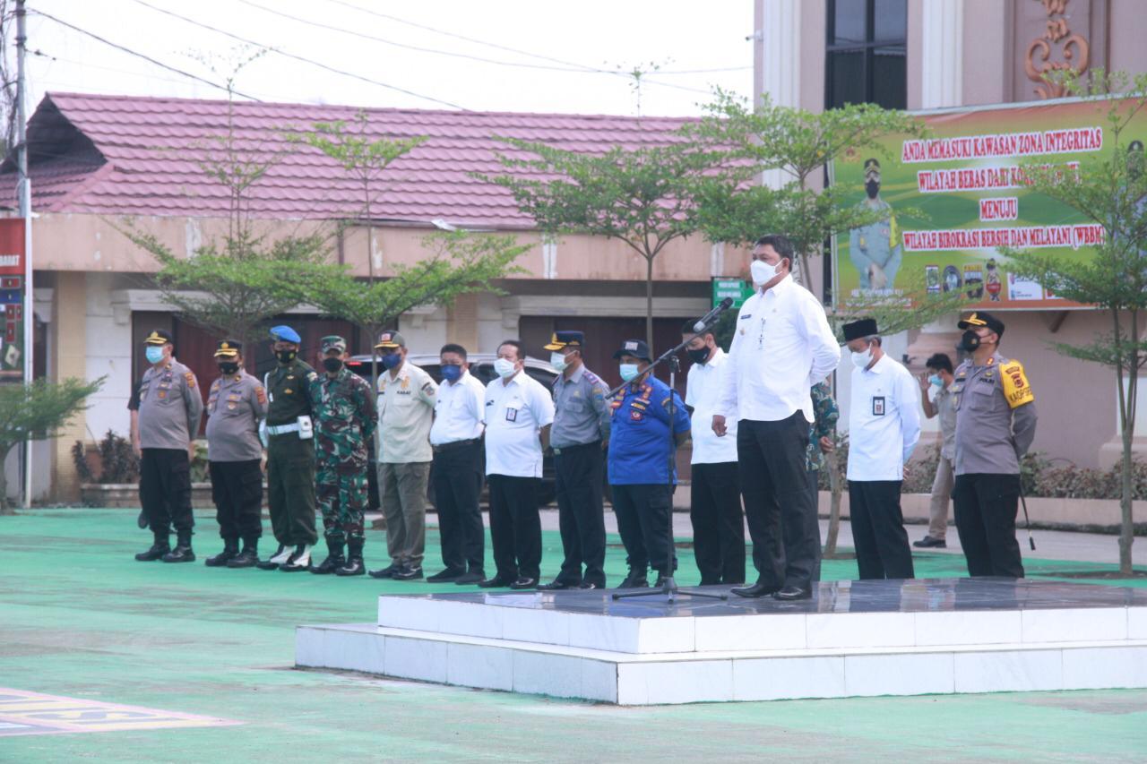 Photo of Wabub Tanjabbar Hadiri Apel Pasukan Pengamanan MTQ Ke 50