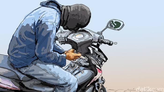 Photo of Terparkir Dipinggir Jalan Area Ketaping, Sepeda Motor Warga Gunung Mesir Raib