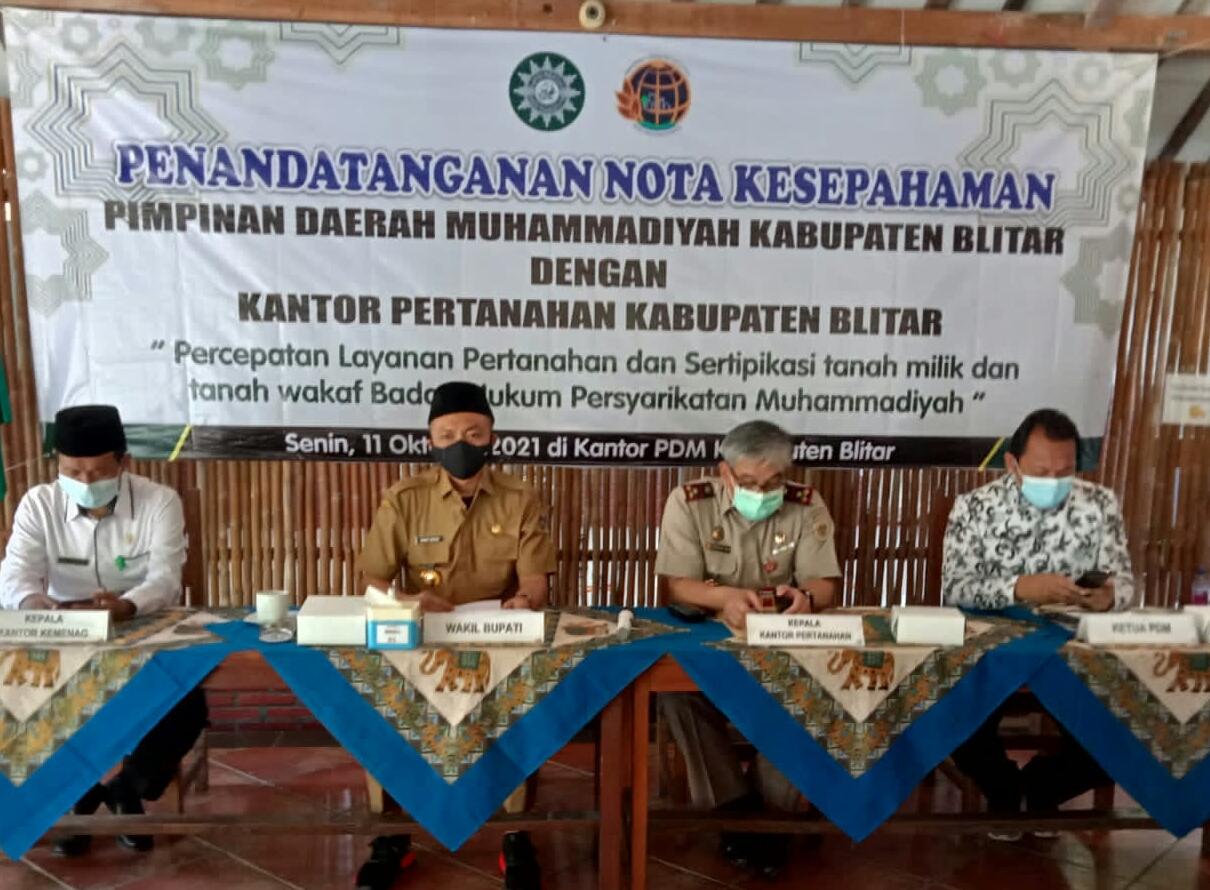 Photo of Wakil Bupati Blitar Menyaksikan Penandatanganan MOU Antara Muhammadiyah Dengan BPN
