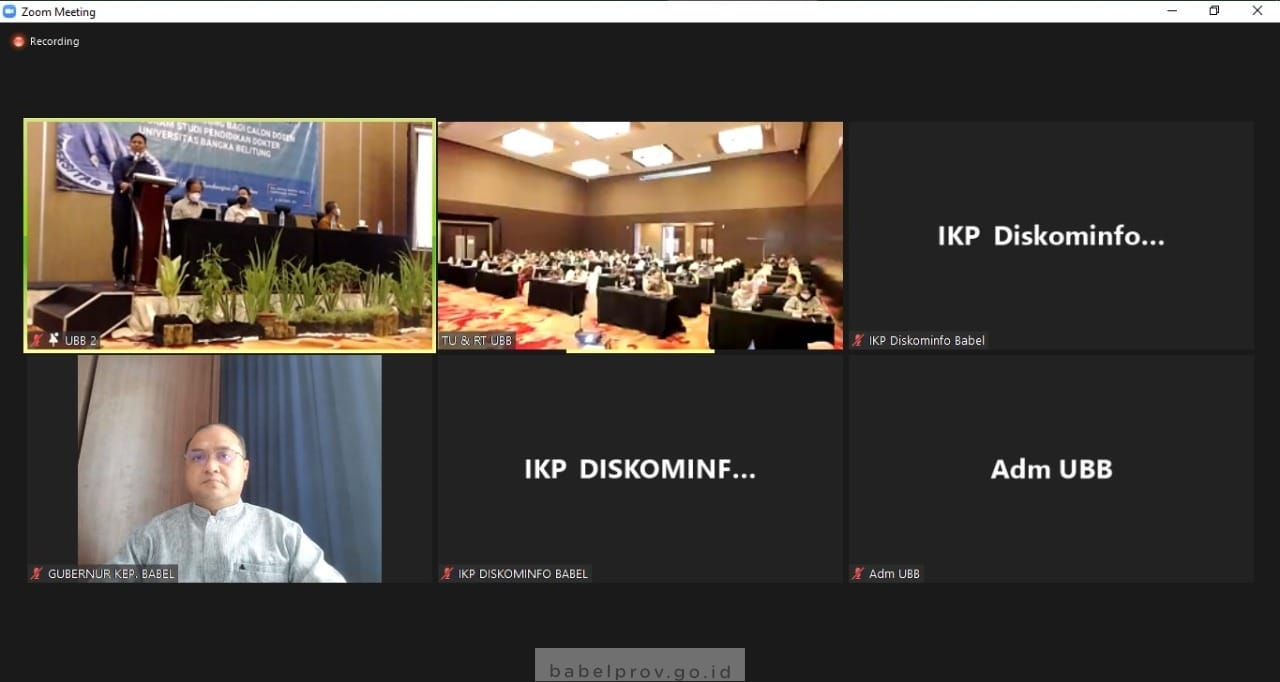 Photo of Gubernur Buka Pelatihan Calon Dosen Prodi Pendidikan Kedokteran UBB