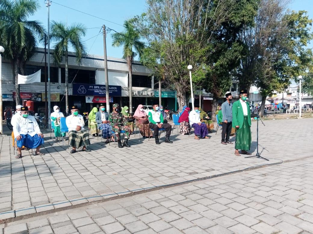Photo of HSN 2021, MWCNU Rampipuji Beserta Banom Gelar Apel