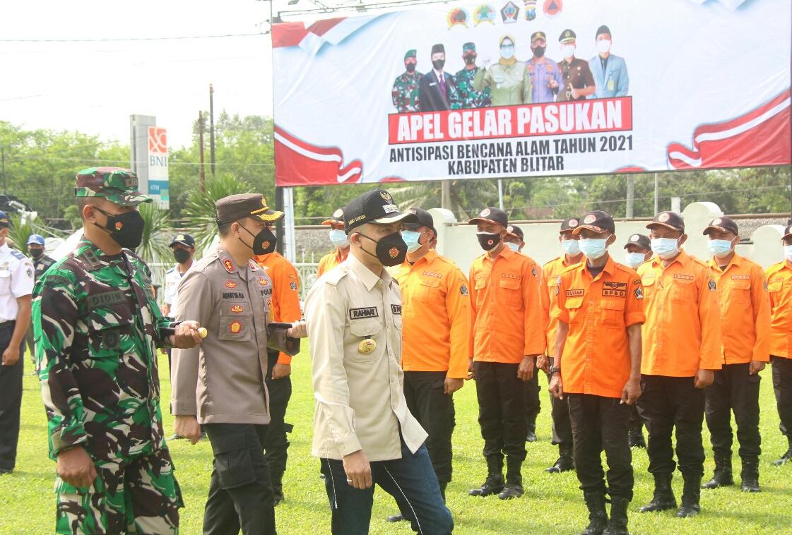 Photo of Wabup Blitar Pimpin Apel Gelar Pasukan Antisipasi Bencana Alam